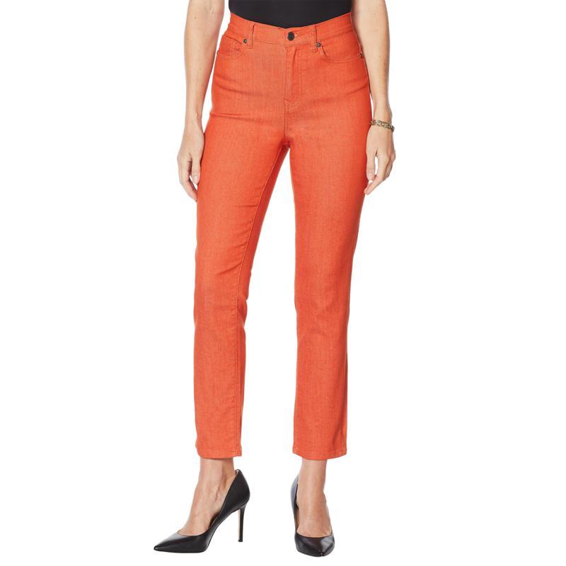 DG2 by Diane Gilman Classic Stretch Straight Ankle Jean - Fashion