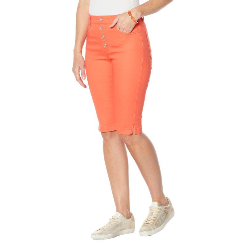 DG2 by Diane Gilman Faux Button Fly Bermuda Short  - Fashion