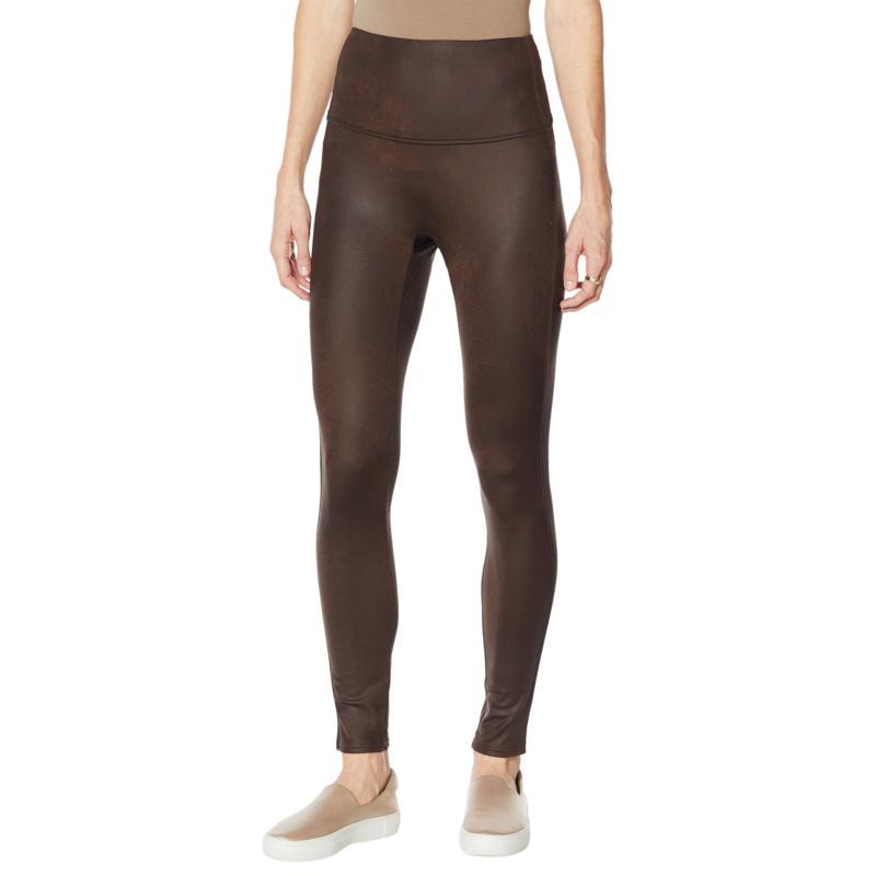 DG2 by Diane Gilman Slim and Sleek Coated Knit Legging - Solid