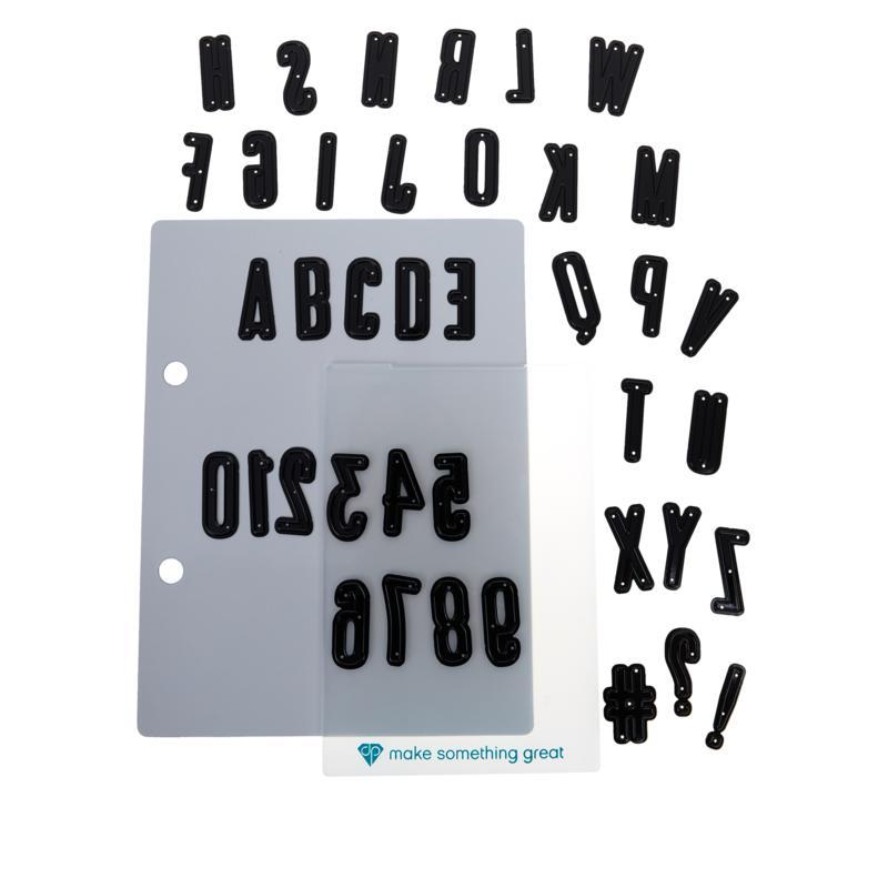 Diamond Press Condensed Alpha and Number Die Set