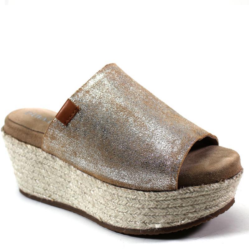 Diba True Bop Top Suede Wedge Slide Sandal