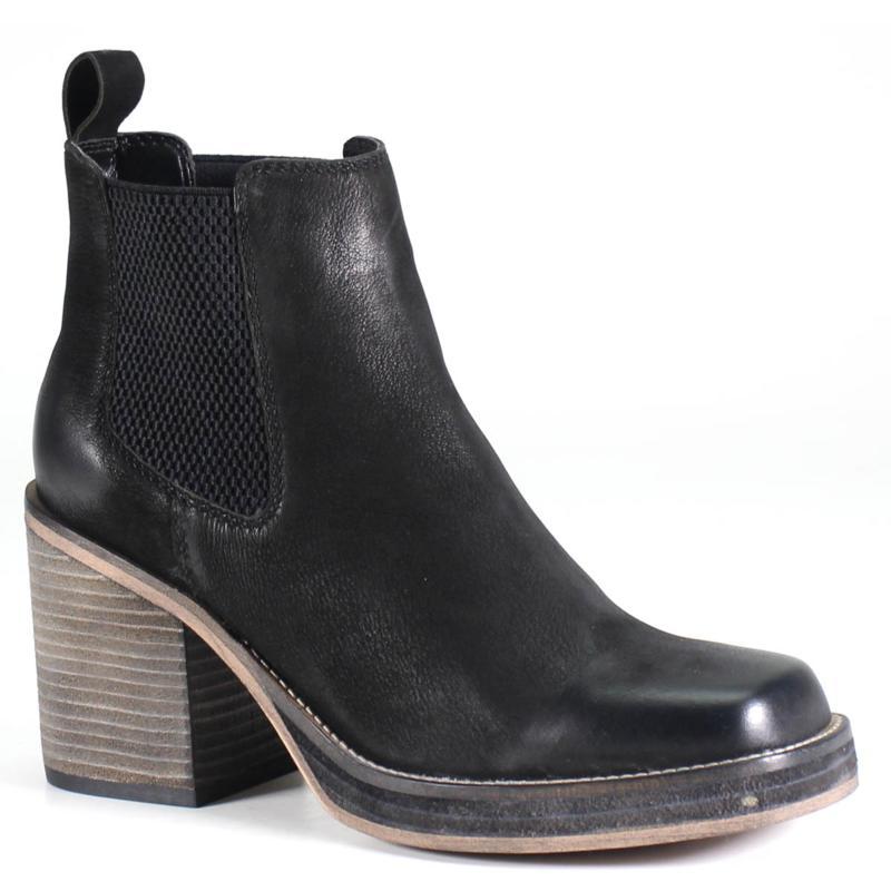 Diba True Gore Leather Heeled Bootie - Ser Eeta