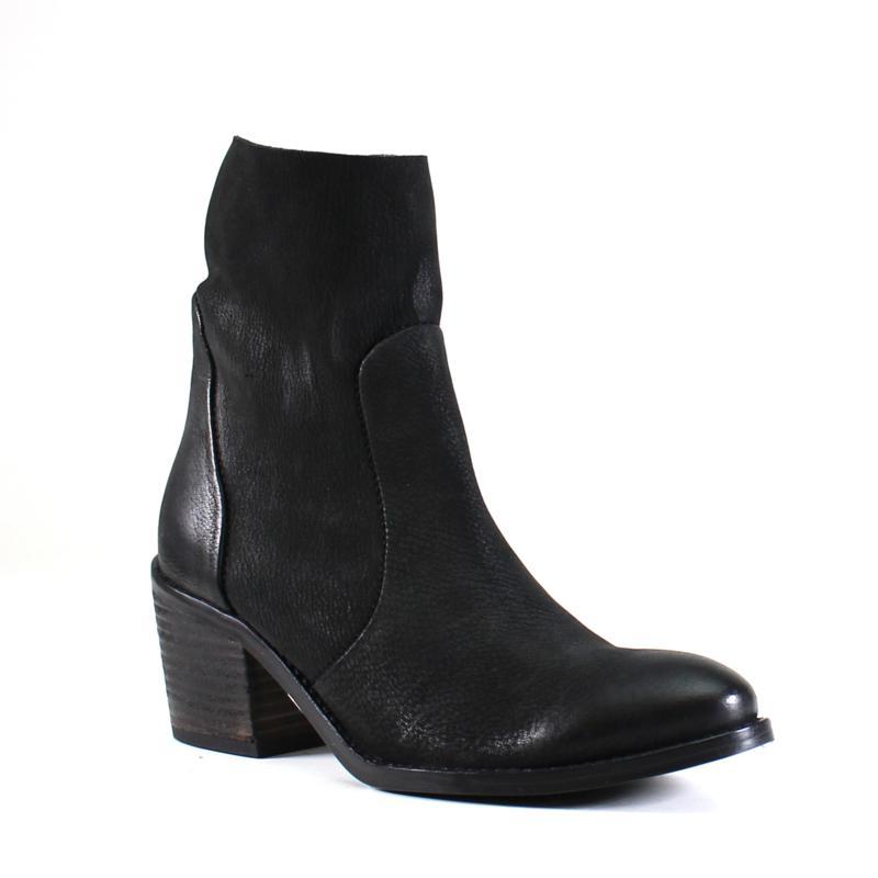 Diba True Majes Tic Leather Block Heel Zip Bootie