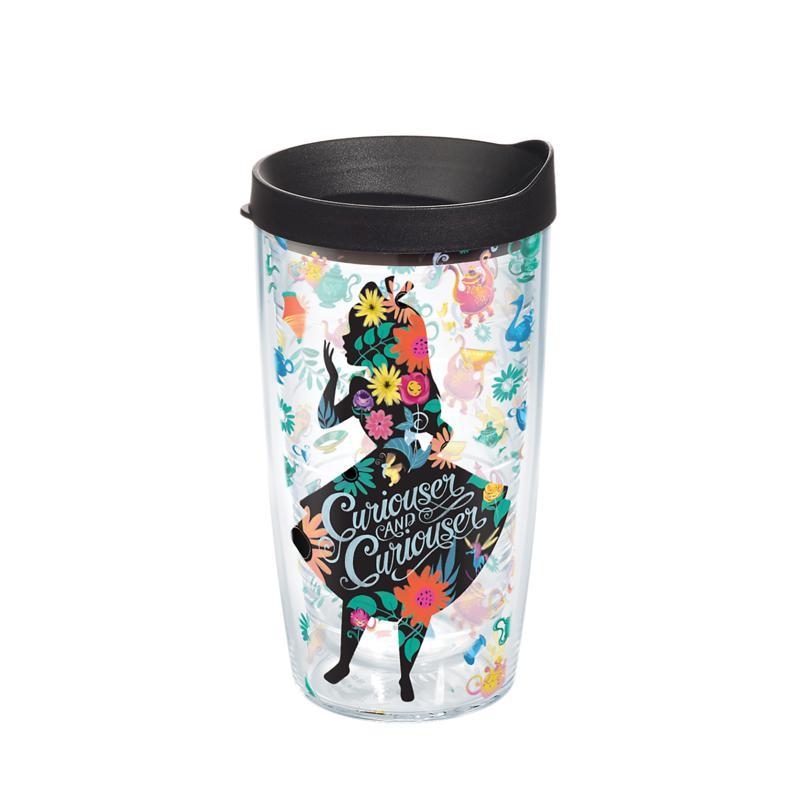 Disney Alice in Wonderland Curiouser 16 oz Tumbler with lid