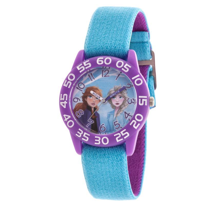 Disney Frozen 2 Elsa & Anna Kids' Time Teacher Reversible Strap Watch