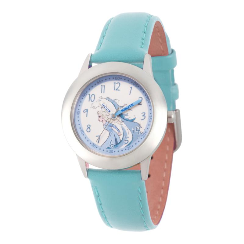 Disney Frozen 2 Elsa Kids' Stainless Steel Watch with Blue Strap