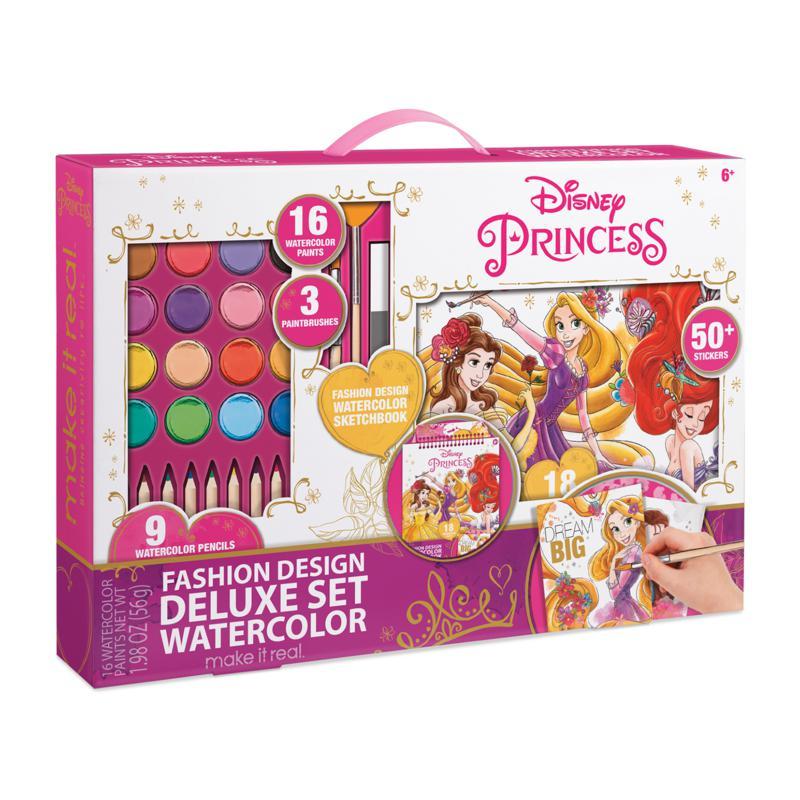 Disney Princess Fashion Design Deluxe Watercolor Set