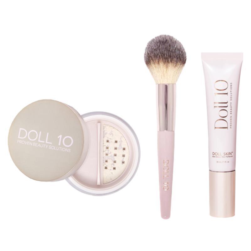 Doll 10 Doll Skin Foundation & Treatment Powder with Brush #12