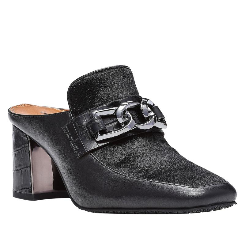 Donald J. Pliner CAAPE2 Block Heel Mule in Black
