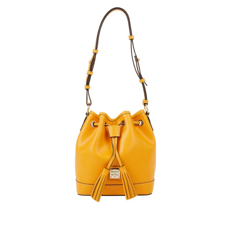 Dooney & Bourke Saffiano Leather Small Drawstring Bag