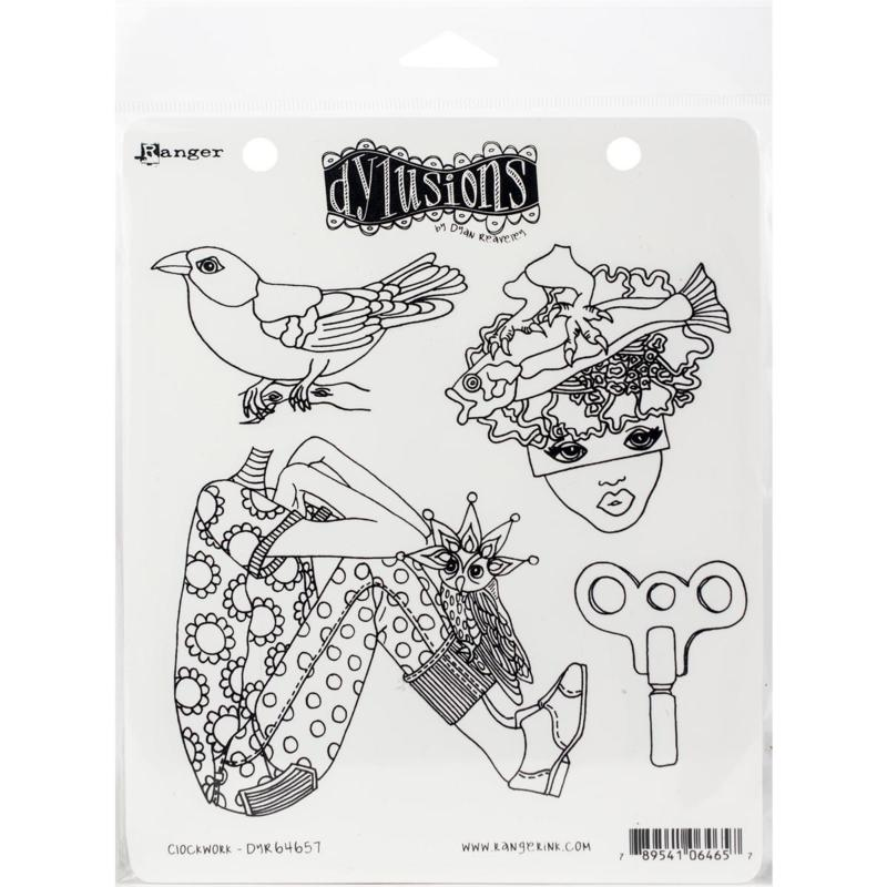 Dyan Reaveley's Dylusions Cling Stamp Collections 8.5X7 - Clockwork