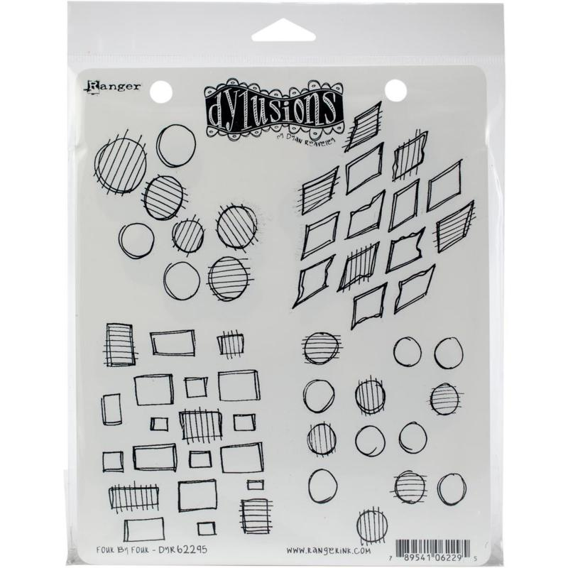 Dyan Reaveley's Dylusions Cling Stamp Collections 8.5X7 - Four By Four