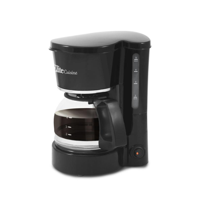 Elite Cuisine 5-Cup Coffee Maker with Pause and Serve