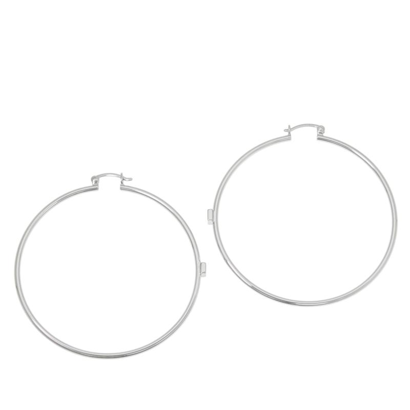 ELLE Sterling Silver Bold Hoop Earrings
