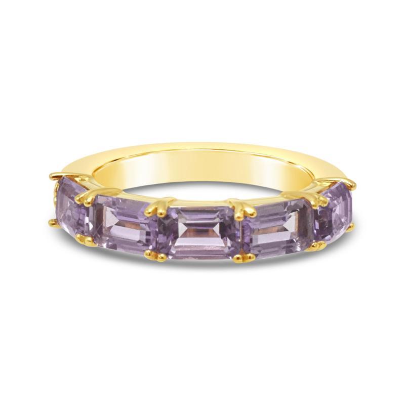 Elyse Ryan 14K Gold Clad Sterling Silver Pink Amethyst Band Ring