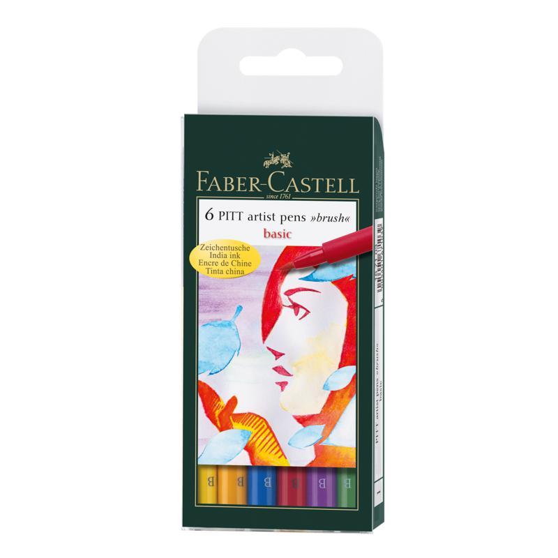 Faber-Castell Pitt Artist Brush Pen Sets - Basic