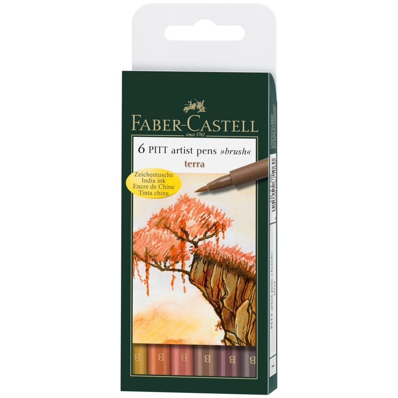 Faber-Castell Pitt Artist Brush Pen Sets - Terra