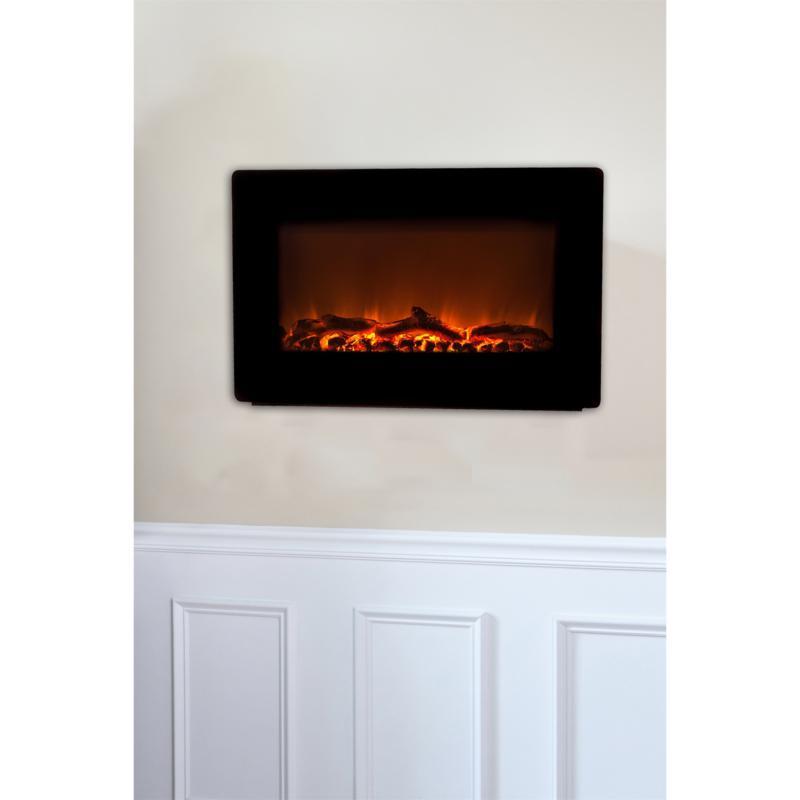 Fire Sense Black Wall-Mounted Fireplace
