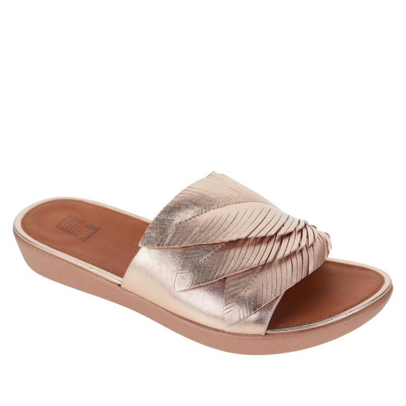 FitFlop Sola Feather Leather Slide Sandal
