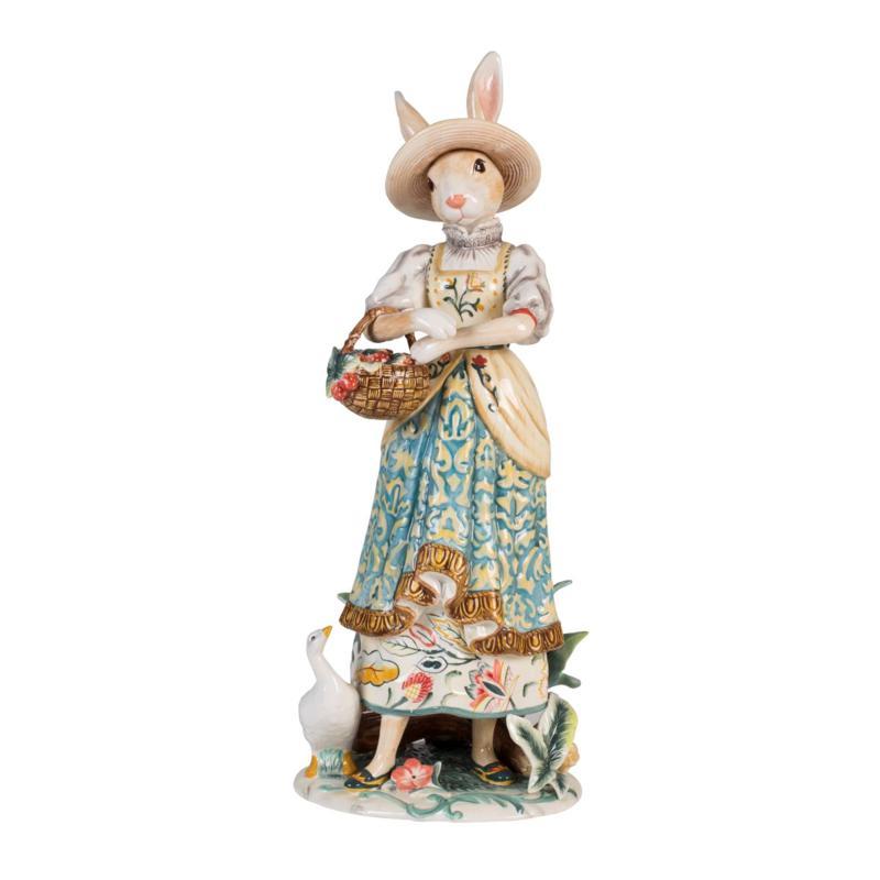 Fitz and Floyd Dapper Rabbits Female Figurine