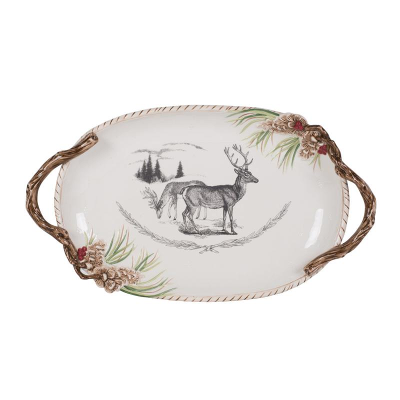 Fitz and Floyd Forest Frost Holiday Platter