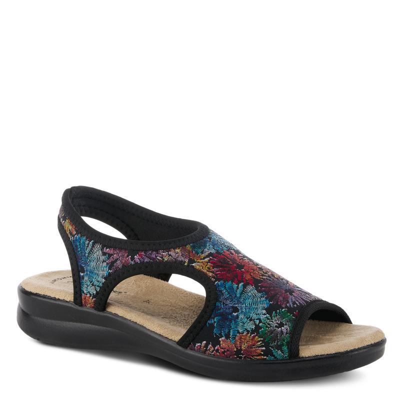 Flexus by Spring Step Nyaman-Crystanth Floral Print Slingback Sandal