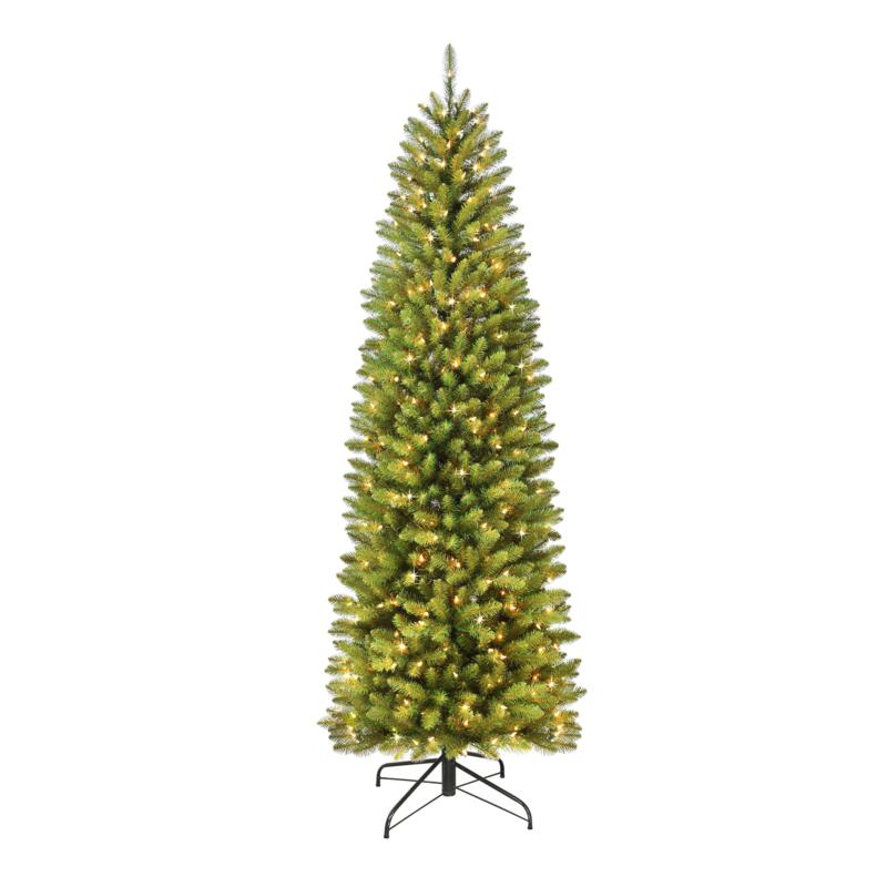 Franklin Fir Pencil 10' Artificial Christmas Tree with Clear Lights