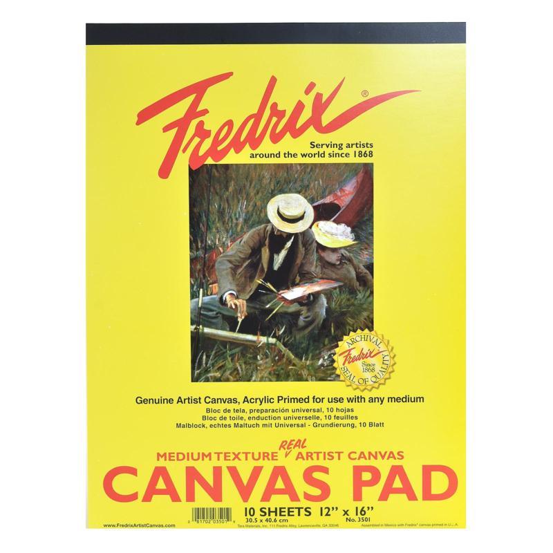 "Fredrix Canvas Pad - 12"" x 16"""