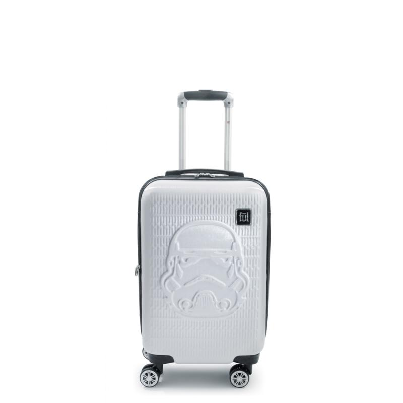FUL Star Wars Storm Trooper Embossed 21-inch Spinner Suitcase, White