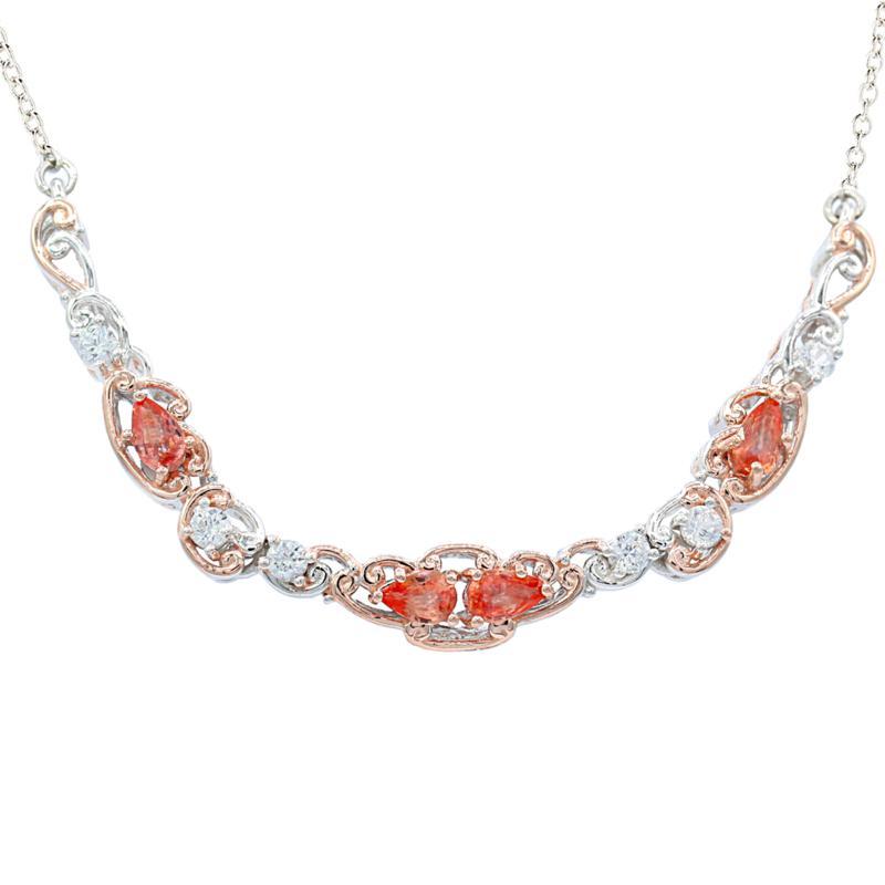 Gems by Michael 18K Rose Goldtone Padparadscha Sapphire & Gem Necklace