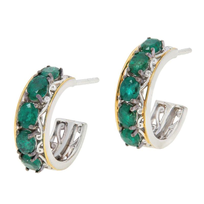 Gems by Michael Valitutti Gemstone Hoop Earrings