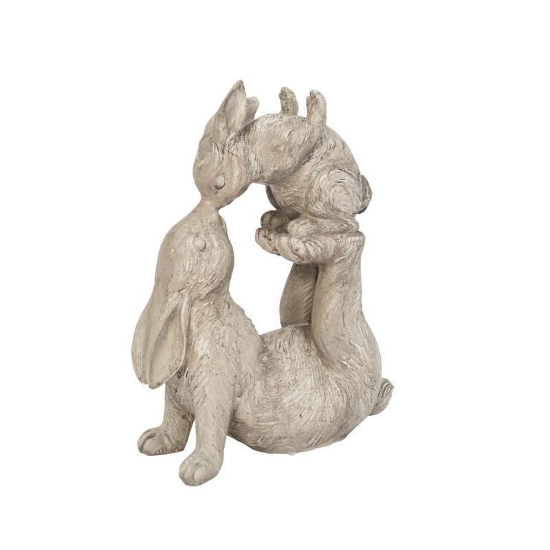 Gerson Resin Kissing Bunnies Figurine