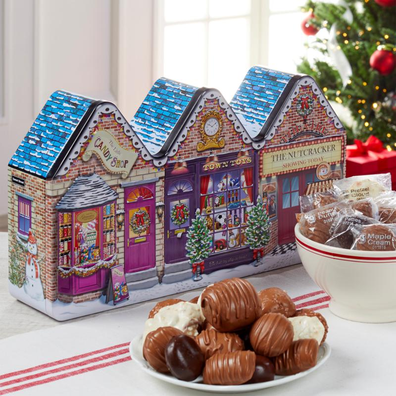 Giannios Candy 3lb. Holiday Tin of Assorted Chocolates - Rec. by 12/13