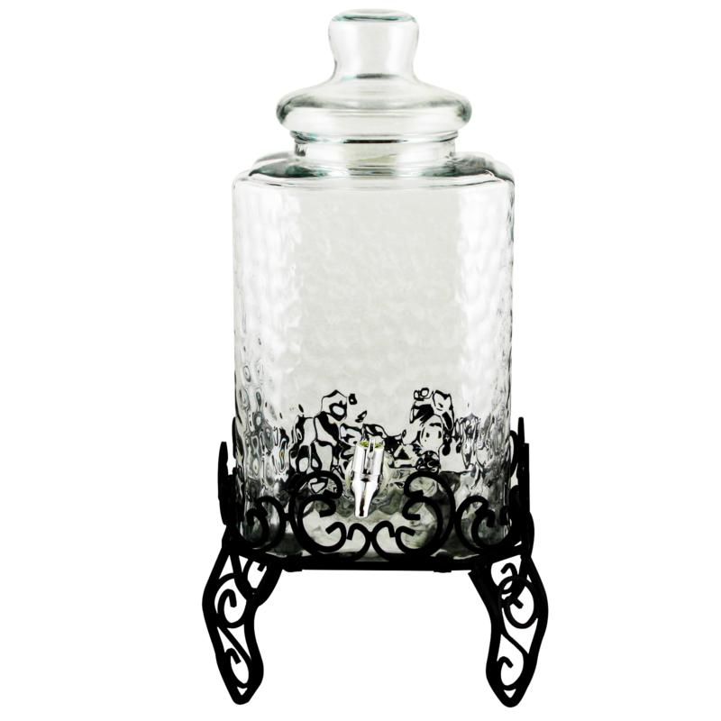 Gibson Moreauville 2.25 Gallon Glass Beverage Dispenser with Stand