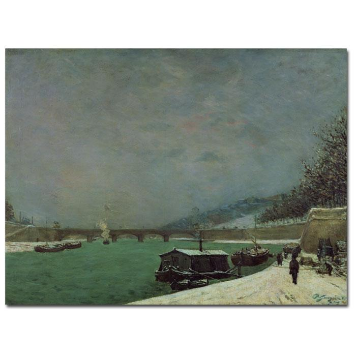 Giclee Print - The Seine at Pont d'lena Winter
