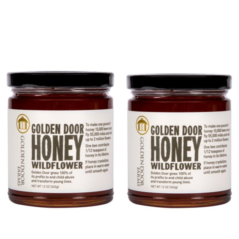 Golden Door 12 oz. Wildflower Honey - Set of 2