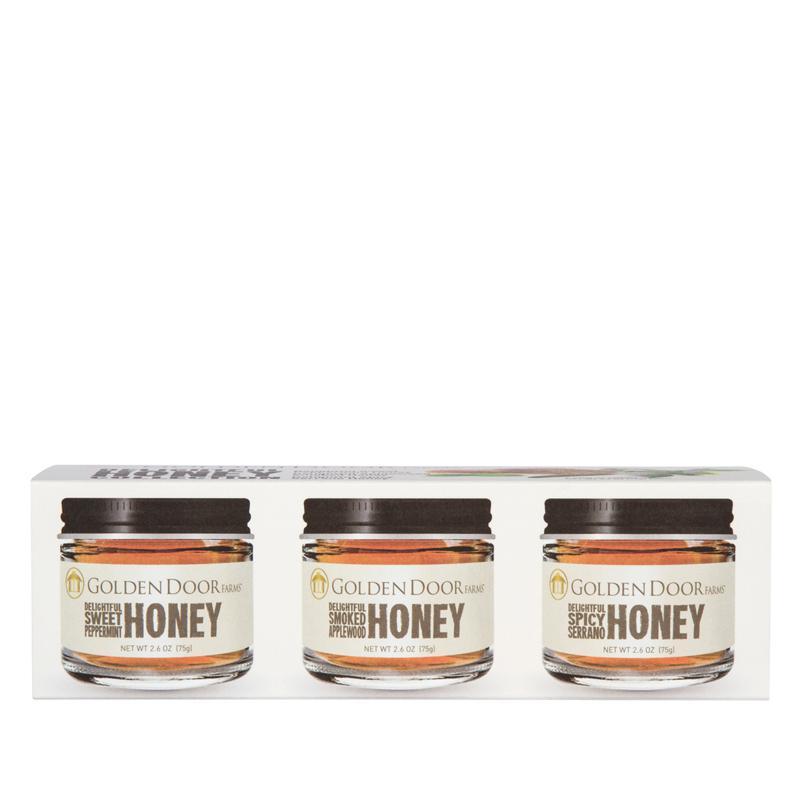 Golden Door 3-pack of Gourmet Flavored Honey