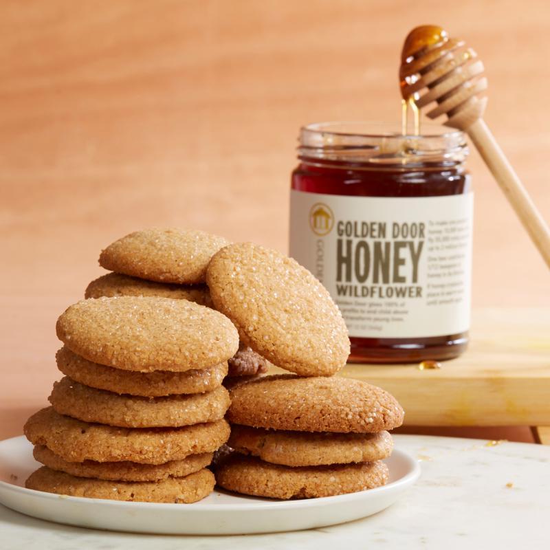 Golden Door Ginger Cookies and Wildflower Honey