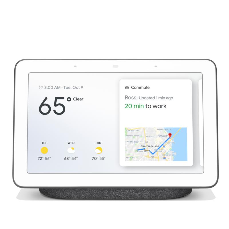 """Google 7"""" Touchscreen Nest Hub Voice-Activated Smart Assistant"""