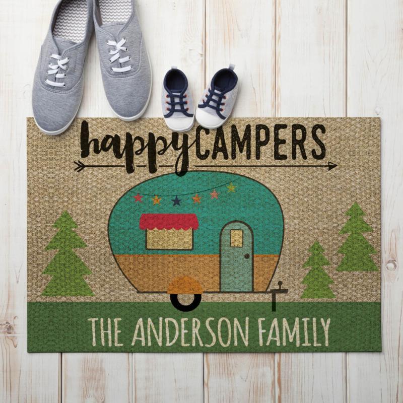 Happy Campers Personalized Standard Doormat