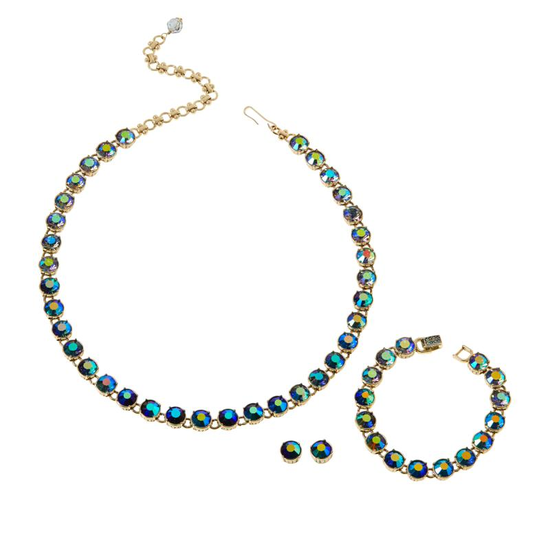 "Heidi Daus ""Crystal Confidential"" Necklace, Earrings and Bracelet"