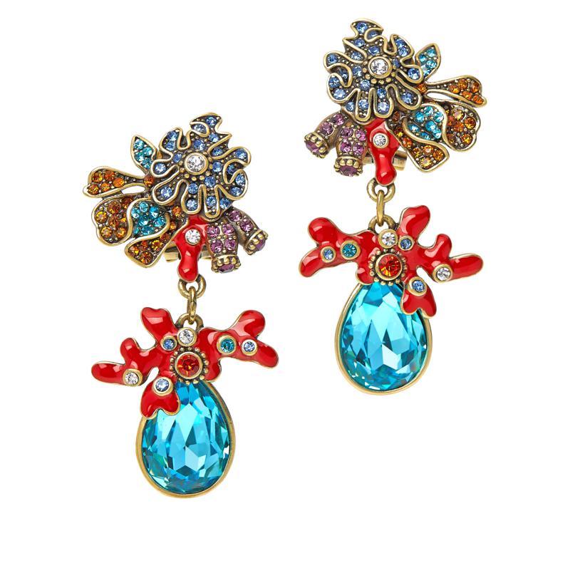 """Heidi Daus """"Sea Anemone Garden"""" Crystal Drop Earrings"""