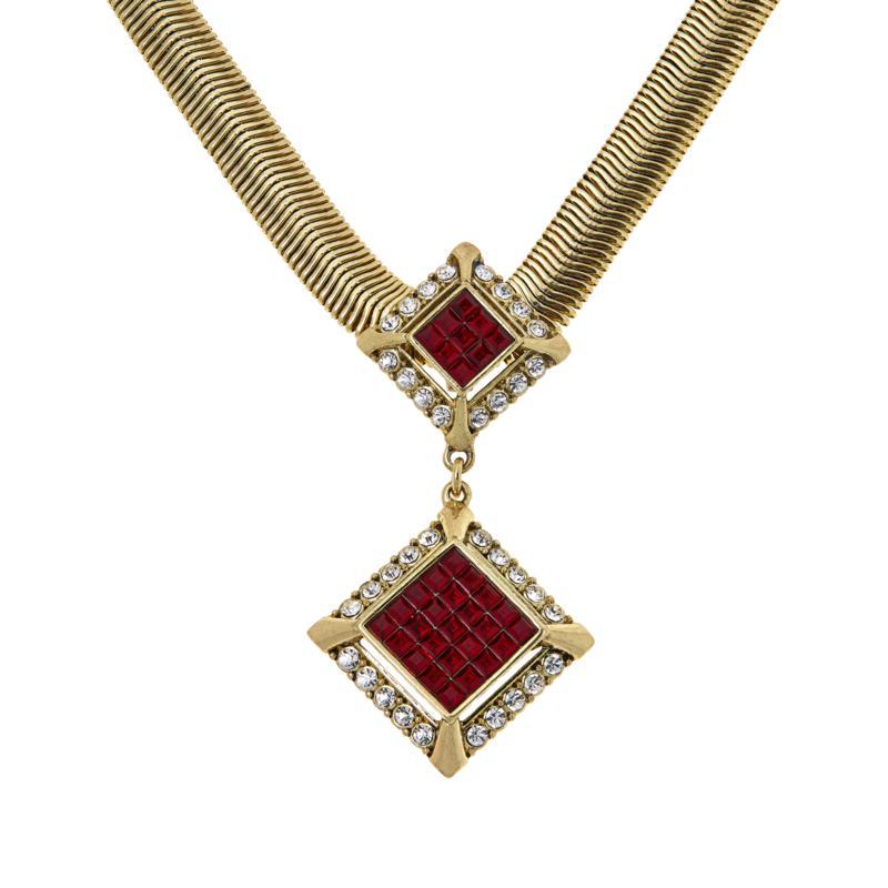 "Heidi Daus ""Spectacular"" 17-1/4"" Snake Chain Drop Necklace"
