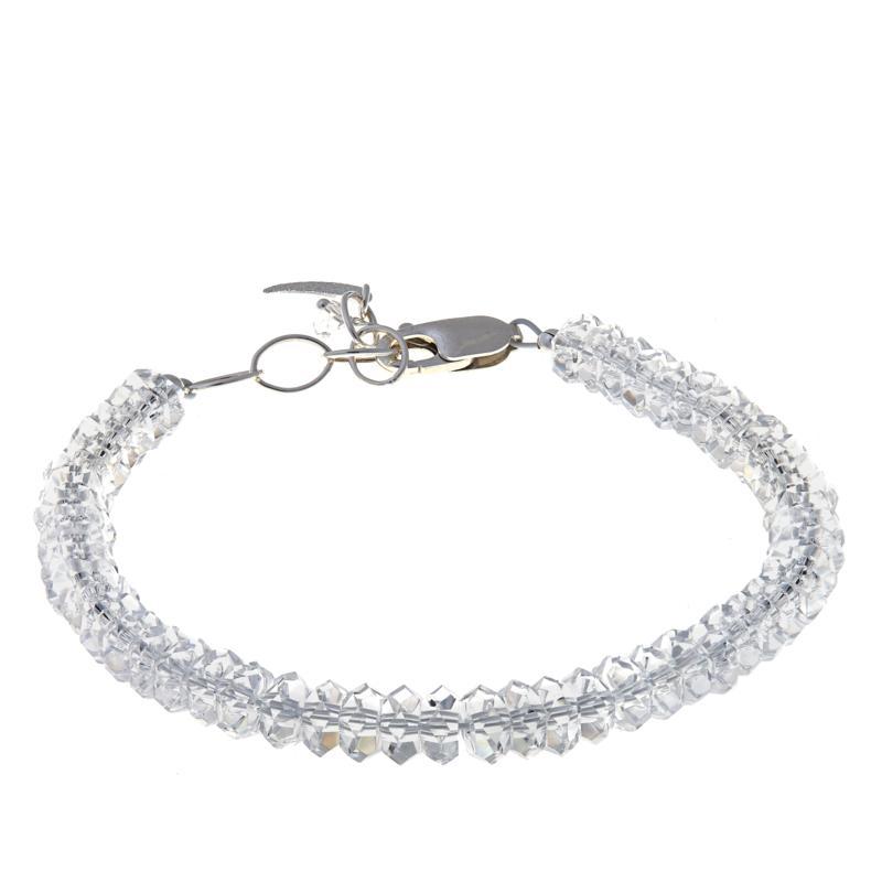 "Herkimer Mines ""Diamond"" Quartz ""Dream"" Bracelet with ""Moon"" Charm"