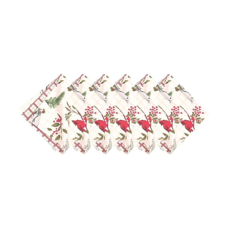 Holly Sprig Birds Napkin 6-Pack