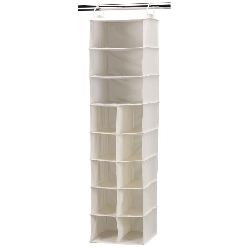 Household Essential 10-Pocket/3-Shelf Organizer-Natural