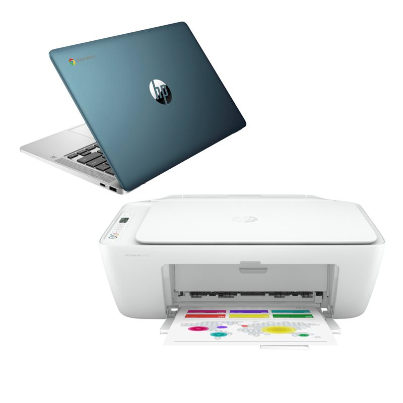 "HP 14"" Touch Intel 4GB RAM 32GB eMMC Chromebook with Deskjet Printer"