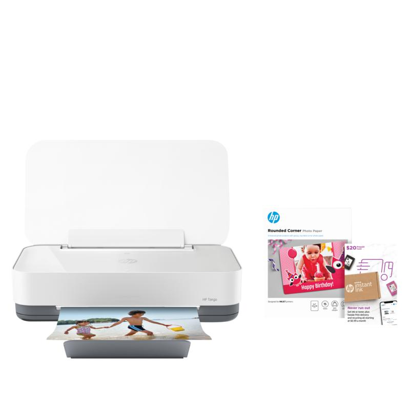 HP Tango Smart Wireless Printer with Instant Ink and Photo Paper
