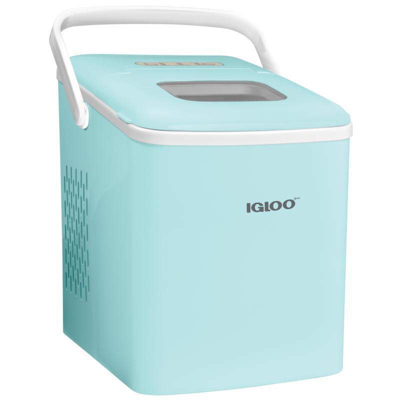 Igloo 26 lb. Self-Cleaning Countertop Ice Maker Machine - Aqua