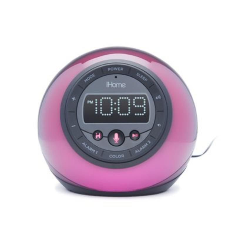 iHome Bluetooth Color Changing Dual Alarm Clock Radio